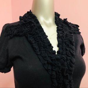 Indigo Ruffled Cardigan/pullover